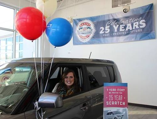 Erbert and Gerbert's Awards Customer With Car in 25th Anniversary Sweepstakes