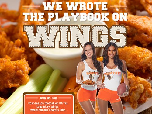 Hooters Big Game Playbook: Wings To-Go Preorders and Freebie Coupons