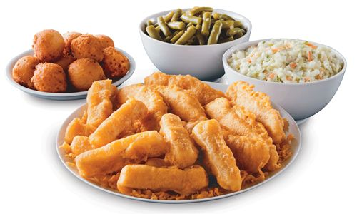 Long john silver 39 s debuts dippin 39 fish strips restaurant for Long john silver s fish and chips