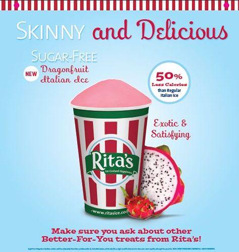 Rita's Italian Ice Introduces Sugar-Free Dragonfruit Ice