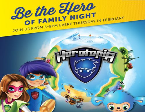 Ryan's, HomeTown Buffet, and Old Country Buffet Partner with Herotopia to Offer Action-Packed Fun for Kids During February