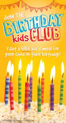 Ryan's, HomeTown Buffet, and Old Country Buffet Invite Kids to Join the Birthday Club