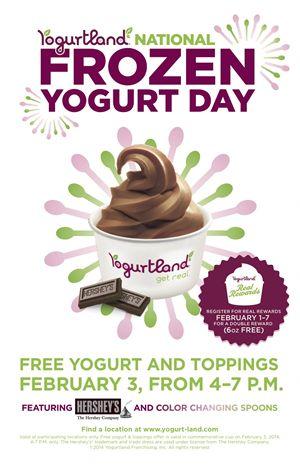 Yogurtland To Celebrate National Frozen Yogurt Day  On February 3, 2014