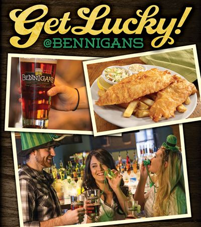 "Bennigan's Wants Guests to ""Get Lucky"" this St. Paddy's Day"