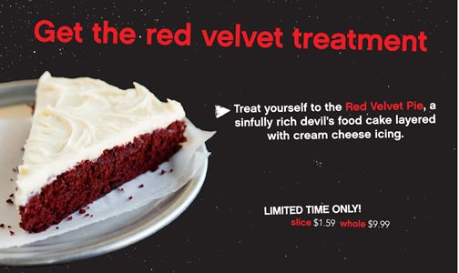 Pie Five Pizza Rolls Out the Red Velvet Treatment