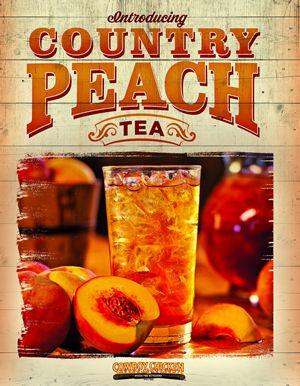 Cowboy Chicken Debuts Country Peach Tea