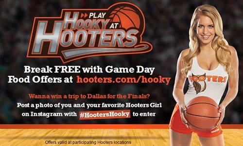 Play Hooky at Hooters with March Game Day Offers