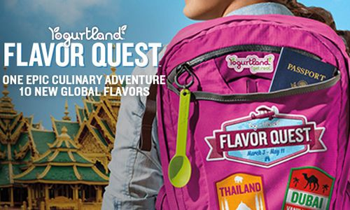 Yogurtland's Second Annual Flavor Quest Will Take Guests on an Epic Culinary Adventure Around the World