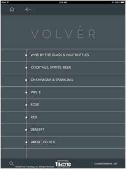 Chef Jose Garces Selects the Tiare Technology Wireless WineList Solution for His Newest Restaurant Volvér