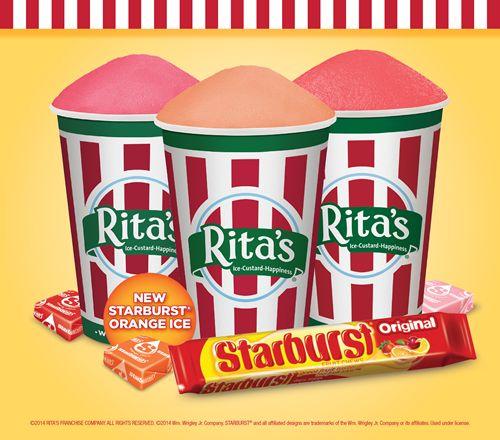 Rita's Italian Ice Introduces STARBURST Orange Italian Ice