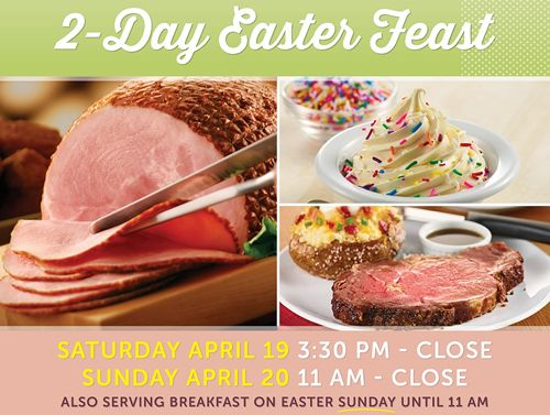 Ryan's, HomeTown Buffet and Old Country Buffet Celebrate Easter All Weekend and Delight Every Bunny