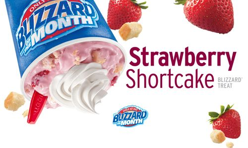 Dairy Queen Debuts New Strawberry Shortcake as Featured Blizzard of the Month for May