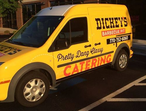 Roland Dickey Attends Dickey's Barbecue Pit Grand Opening in Sharpsburg