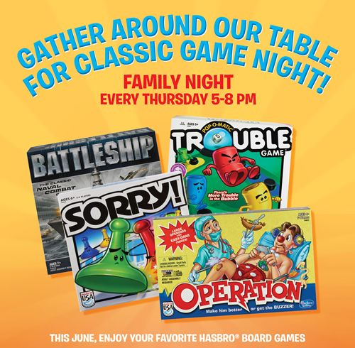 Thursday Night is Game Night at Ryan's, HomeTown Buffet and Old Country Buffet All June Long!