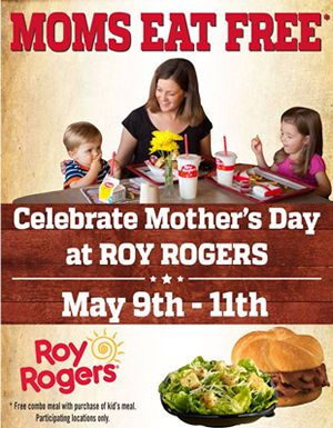 Treat Mom to a Meal at Roy Rogers Restaurants
