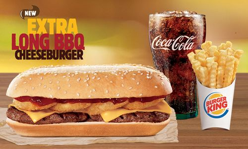 Burger King Introduces the Extra Long BBQ Cheeseburger