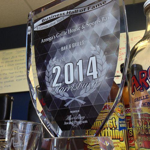 Arooga's Grille House & Sports Bar Wins Six 'Best Of Harrisburg' Reader Favorites Awards, Enters Harrisburg Business Hall of Fame