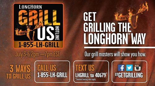 LongHorn Steakhouse's Grill Us Hotline Reopens this Fourth of July Weekend