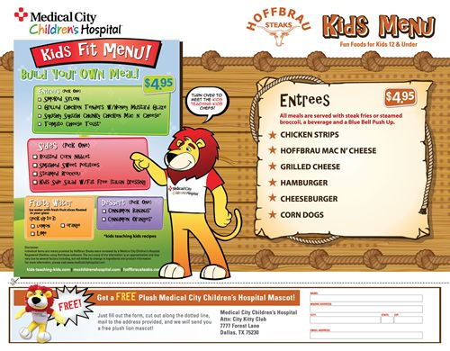 Even Kids Can Get a Healthy Meal at a Steakhouse: Hoffbrau Steaks Releases Kids Fit Menu