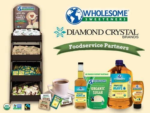 Wholesome Sweeteners and Diamond Crystal Brands Announce Foodservice Partnership