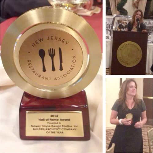 Maxey Hayse Design Studios receives 2014 Architectural Design Firm of the Year Award from the New Jersey Restaurant Association