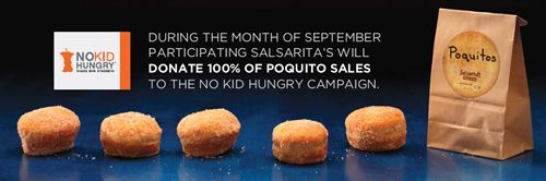 Salsarita's Continues Commitment to Ending Hunger With Third Annual 'No Kid Hungry' Campaign