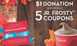 """Wendy's Frosty Fans Can """"Trick or Treat"""" It Forward This Fall"""