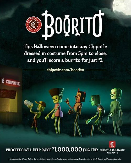 Chipotle Celebrates Halloween with Boorito