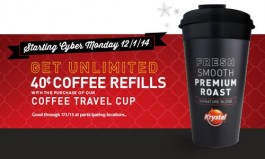 Krystal Debuts Collectible Travel Cup for Big Coffee Savings