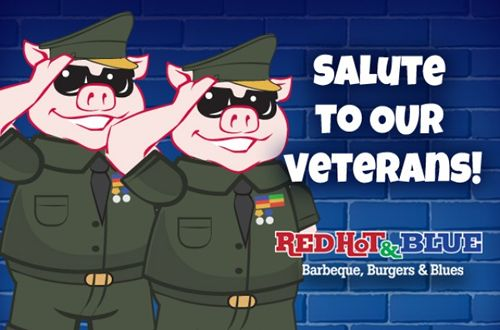 Red Hot & Blue Restaurants Offers Veterans Day Discounts For Three Days