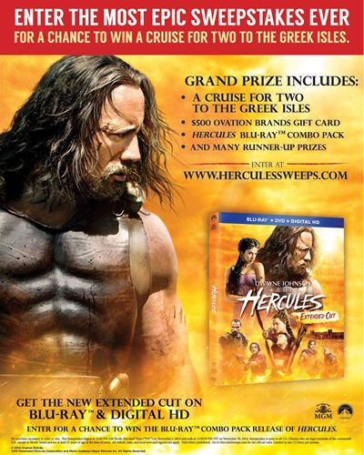 Ryan's, HomeTown Buffet and Old Country Buffet Bring Fantasy to Life with 'Hercules' Movie Promotion