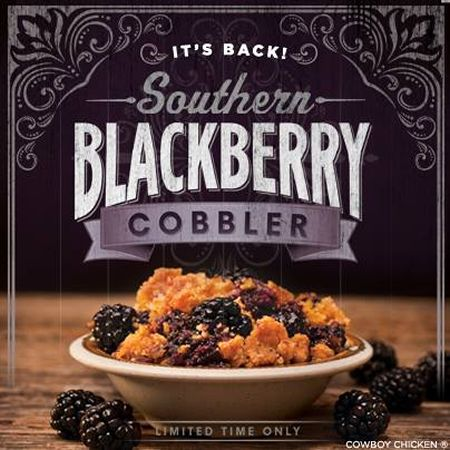 Southern Blackberry Cobbler Makes Its Return to Cowboy Chicken
