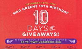 MAD Greens Marks its First Decade with '10 Days, 10 Deals' Birthday Celebration