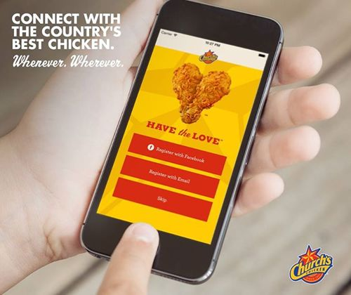 Church's Launches New Mobile App That Clicks With Fans Who 'Have the Love' For Chicken