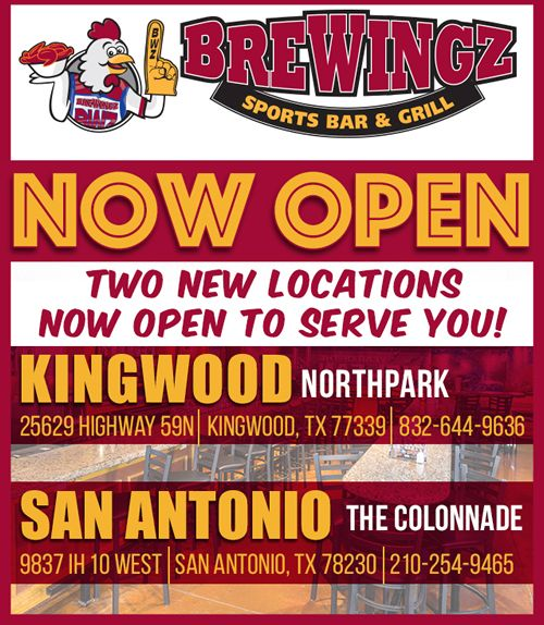 BreWingZ Sports Bar & Grill Widens its WingZ Reach Opening San Antonio and Kingwood Locations