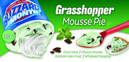 Dairy Queen Debuts Grasshopper Mousse Pie as the Featured Blizzard of the Month for March