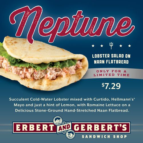 Erbert & Gerbert's Brings the Bounty of the Ocean to Landlubbers with Limited Time Neptune Sandwich