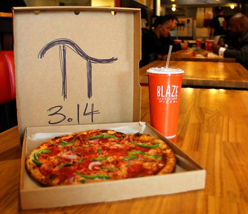 Blaze Fast-Fire'd Pizza Celebrates Once-In-A-Lifetime Pi Day with $3.14 Pizzas on Saturday, March 14