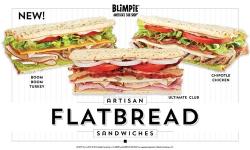 Blimpie Announces Bold New Flatbread Menu Additions