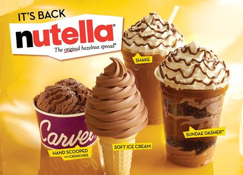 It's Back! Carvel Ice Cream Teams up with Nutella Once Again for Limited-Time Ice Cream Treats