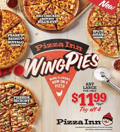 Pizza Inn Combines the Best of Wings and Pizza to Create WingPies