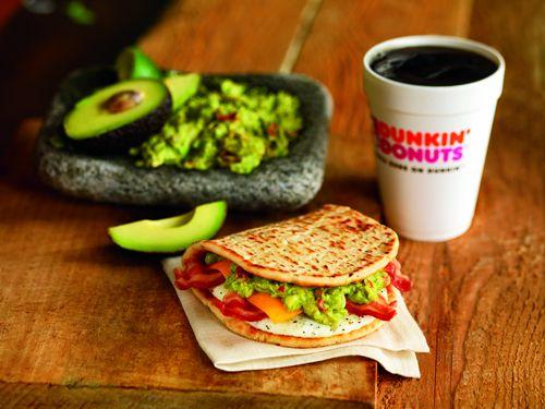 Dunkin' Donuts Brings Guacamole To Breakfast With New Bacon Guacamole Flatbread Sandwich