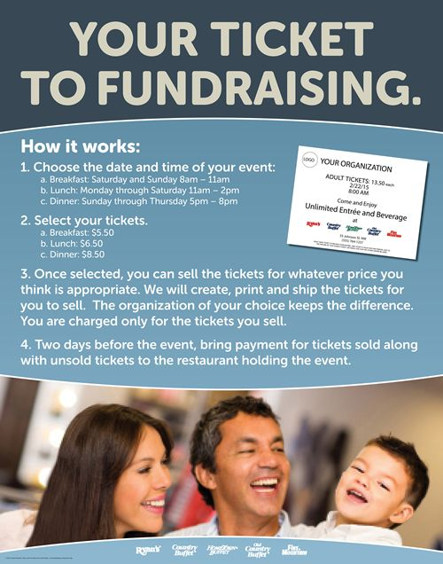 Ryan's, HomeTown Buffet, and Old Country Buffet Have the Ticket to Fundraising