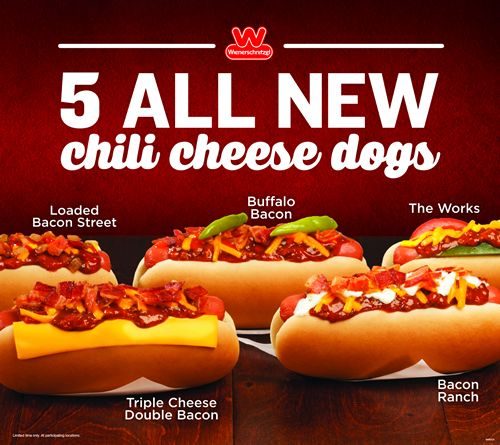 Wienerschnitzel Introduces Five New Chili Cheese Dog Creations