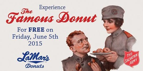 Free LaMar's Donuts on June 5 to Benefit Salvation Army Fundraiser