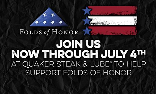 Quaker Steak & Lube Launches Partnership with Folds of Honor