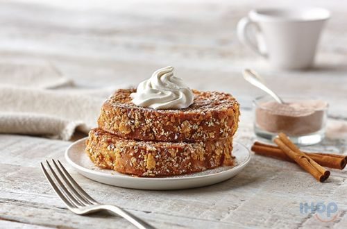 New Double-Dipped French Toast - Sweet Brioche bread Coated In Corn Flakes And Oatmeal - Available At Participating IHOP Restaurants