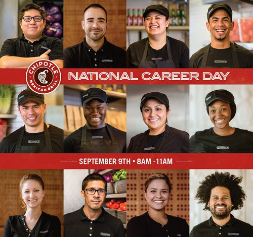 Chipotle to Hire 4,000 People in a Single Day at First-Ever National Career Day on September 9
