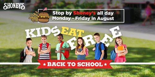 Shoney's Celebrates Back to School with Kids Eat Free Promotion in August