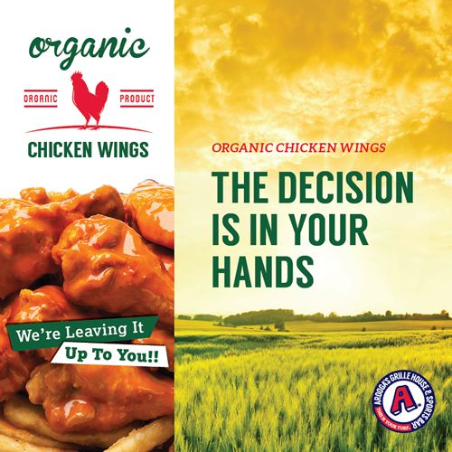Should They Stay or Should They Go? Arooga's Challenges Guests to Determine the Fate of USDA Organic Chicken Wings
